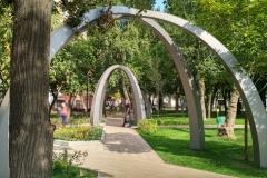Проект конструкции паркового оформления