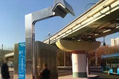Проект конструкции остановки с пантографом для электробусов