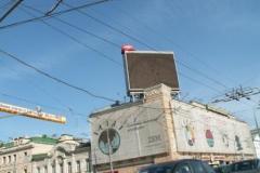 Крышная установка: светодиодный экран