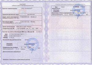 Свидетельство о внесении в Реестр субъектов малого предпринимательства Москвы