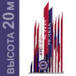"""Компания """"Экспертиза-Р"""" разработала конструкторский проект флаговой композиции ко дню города"""